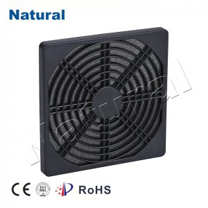 Plastic fan filter cover